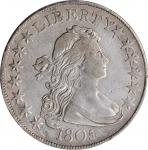 1805/4 Draped Bust Half Dollar. O-102, T-5. Rarity-3. VF Details--Cleaned (PCGS).