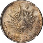 MEXICO. 4 Reales, 1855/4-Go PF. Guanajuato Mint. NGC AU-50.
