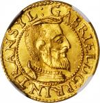 TRANSYLVANIA. Ducat, 1613-NB. Baia Mare (Nagybanya) Mint. Gabriel Bathory. NGC MS-63.