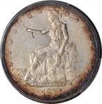 1877-S年美国贸易银元。旧金山造币厂。UNITED STATES OF AMERICA. Trade Dollar, 1877-S. San Francisco Mint. PCGS Genuin