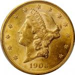 1906-D Liberty Head Double Eagle. MS-62 (PCGS).