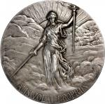 1910 Mexican Independence Proclamation Centennial Medal. Silver. 90.14 mm. 236.2 grams. .925 fine. B