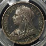 GREAT BRITAIN Victoria ヴィクトリア(1837~1901) 1/2Crown 1893 PCGS-PR64 CAM トーン Proof UNC+