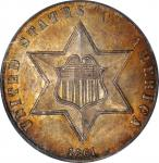 1861 Silver Three-Cent Piece. MS-67 (PCGS). CAC.