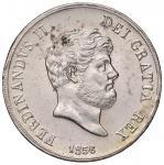 Italian coins;NAPOLI Ferdinando II (1830-1859) Piastra 1856 - Magliocca 566 AG (g 27.55) Lucidata. -