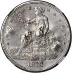 1873-CC Trade Dollar. AU Details--Chopmarked (NGC).