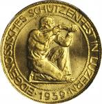 SWITZERLAND. 100 Franc, 1939-B. NGC MS-64.