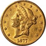 1877-CC Liberty Head Double Eagle. AU-55 (PCGS).