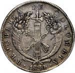 COLOMBIA.1834-RS 8 Reales. Bogotá mint. Restrepo 158.1. EF-40 (PCGS).