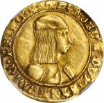 ITALY. Sardinia. Ducat, ND (1482-90). Carlo I. NGC EF Details--Mount Removed.