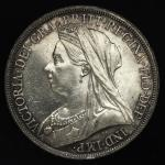 GREAT BRITAIN Victoria ヴィクトリア(1837~1901) Crown 1893LVI EF