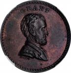 1868 Ulysses S. Grant Medal. Musante JAB-32, DeWitt-USG 1868-33. Copper. Plain Edge. MS-63 BN (NGC).