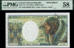Central African Republic, Banque des Etats de lAfrique Centrale, specimen 10000 francs, ND (1983), z