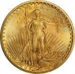 1907 Saint-Gaudens Double Eagle. Arabic Numerals. Saint. MS-66+ (PCGS).