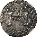 MEXICO. Early Series. 4 Reales, ND (1538-40 or 41) oMo-oPo. Carlos and Johanna (1516-56). NGC AU-50.