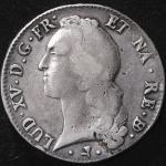 FRANCE Louis XV 儿イ15世(1715~1774) Ecu au bandeau 1769cow   VG~F
