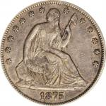 1875-CC Liberty Seated Half Dollar. WB-9. Rarity-4. EF-45 (ANACS).