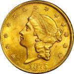 1875-CC Liberty Head Double Eagle. MS-62+ (PCGS).