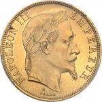 FRANCE Second Empire / Napoléon III (1852-1870). 50 francs tête laurée 1866, A, Paris.