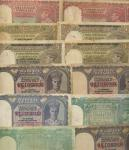 Reserve Bank of India, Burma, 5 rupees. (18), 10Rs. (19), ND (1938-47) 5 rupee notes divided into t