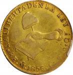 MEXICO. 8 Escudos, 1856-Mo GF. Mexico City Mint. PCGS EF-40 Gold Shield.