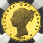 GREAT BRITAIN Victoria ヴィクトリア(1837~1901) Pattern Sovereign 1837 NGC-PF64 Ultra Cameo (最高グレーディング品 Fin