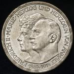 GERMANY Anhalt-Dessau アンハルト・デサウ 3Mark 1914A 返品不可 要下見 Sold as is No returns -UNC