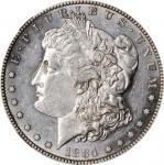 1884-S Morgan Silver Dollar. AU-58 (NGC).
