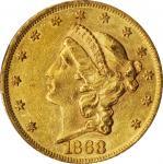 1868 Liberty Head Double Eagle. AU-55 (PCGS).