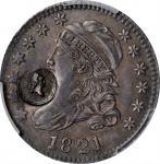 (Ca. 1824) George Washington Countermark on an 1821 Dime. Musante GW-115, Baker-1053, Brunk GW-245.