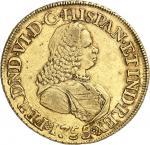 COLOMBIE Ferdinand VI (1746-1759). 8 escudos, frappe au balancier 1755 S, NR, Nuevo Reino (Santa Fé