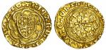 Richard II (1377-99), Quarter-Noble, type 1b/3 mule, 1.88g, mm. cross patt馥, ricard?dei gra rex angl