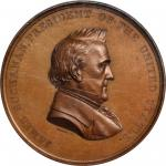1860 (1861) Japanese Embassy Medal. By Anthony C. Paquet. Julian CM-23. Bronzed Copper. MS-63 BN (NG