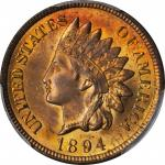 1894 Indian Cent. MS-65 RB (PCGS). CAC.