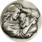 1975 Young Love - Mother Love. Silver. 73 mm. 294.4 grams. 999 fine. By Bruno Lucchesi. Alexander-SO