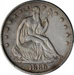 1889 Liberty Seated Half Dollar. WB-101. VF Details--Harshly Cleaned (PCGS).