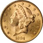 1884-S Liberty Head Double Eagle. MS-61 (PCGS).
