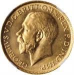 INDIA. Sovereign, 1918-I. Bombay Mint. NGC MS-66.