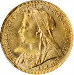 AUSTRALIA. Sovereign, 1900-M. Melbourne Mint. Victoria. PCGS MS-62 Gold Shield.