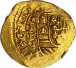MEXICO. 4 Escudos, 1713-MXoJ. Philip V (1700-46). NGC MS-65.