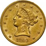 1864 Liberty Head Eagle. AU-58 (PCGS).