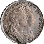 GREAT BRITAIN. Shilling, 1693. London Mint. William & Mary. PCGS EF-45 Gold Shield.