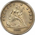 1861-S Liberty Seated Quarter. Briggs 1-A. AU-58 (PCGS).