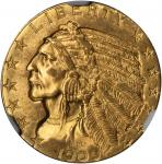 1909 Indian Half Eagle. MS-64 (NGC).