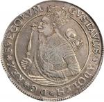 SWEDEN. Riksdaler, 1631. Sala and Stockholm Mint. Gustav II Adolf (1611-32). NGC AU Details--Edge Fi