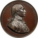 1779 (ca. 1870s) Captain John Paul Jones Naval Medal. U.S. Mint Copy Dies. Bronzed Copper. 57 mm. By