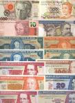 Banco Central do Brazil/Banco de Guatemala, a selection of more modern Brazilian and Guatemalan note