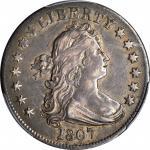 1807 Draped Bust Quarter. B-1. Rarity-2. EF-45 (PCGS).