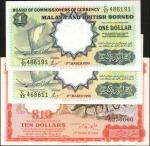 1959 & 1961年马来亚及英属婆罗洲货币发行局1 & 10圆。