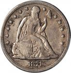 1871-CC Liberty Seated Silver Dollar. OC-1, the only known dies. Rarity-4+. VF Details--Repaired (PC
